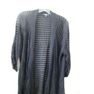 Premise Size 2X Black Designer PLUS SIZE Cardigan
